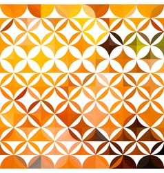 Orange ethnic floral pattern vector