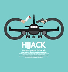 Plane hijack concept abstract design vector