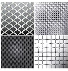 Metallic mesh set vector