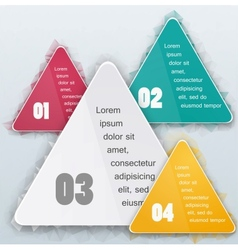 Triangle background color object vector