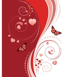 Red swirl ornament vector