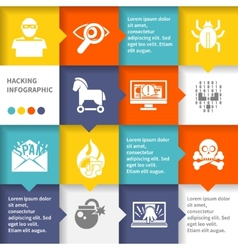 Hacker infographic set vector