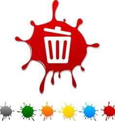 Recycle bin blot vector