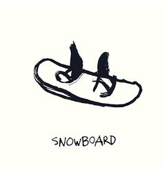 Snowboard hand drawn vector