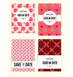 Abstract cards with date vector