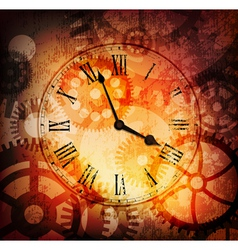 Grungy clock vector