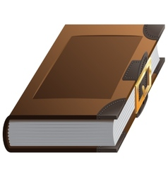 Old thick book with clasp vector