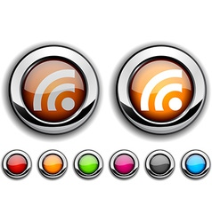 Rss button vector