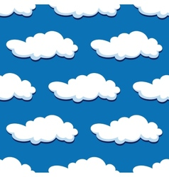 Blue cloudy sky seamless pattern vector