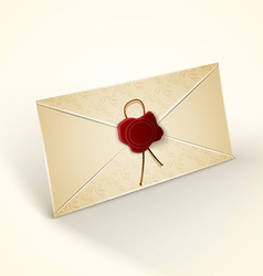 Old vintage style envelope vector