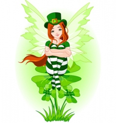 Young st patrick's fairy vector