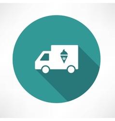 Ice cream truck icon vector