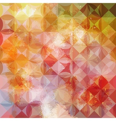Colorful abstract geometric grunge pink pattern vector