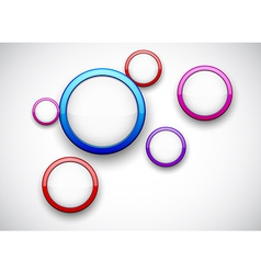 Colorful background with glossy circles vector