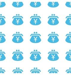 Unique yen purse seamless pattern vector