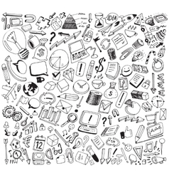Business consept doodles vector