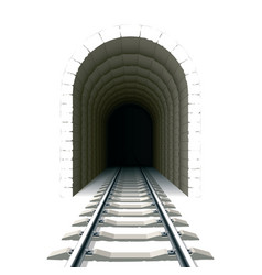 Entrance to railway tunnel vector