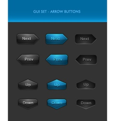 User interface elements - arrow buttons vector