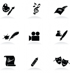 Arts icons vector
