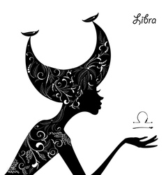 Zodiac sign libra fashion girl vector