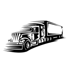 Moving delivery truck vector
