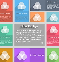 Color scheme icon sign set of multicolored buttons vector
