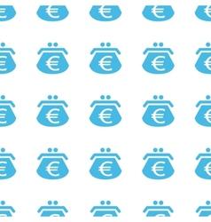 Unique euro purse seamless pattern vector