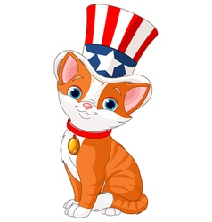 Fourth of july kitten vector