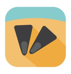 Flippers icon vector