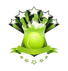 Tennis emblem vector