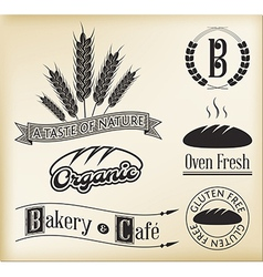 Organic bakery labels vector