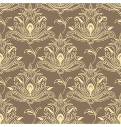 Persian floral seamless background pattern vector