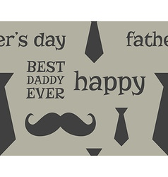 Father s day greeting seamless pattern template vector