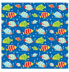 Seamless fishes pattern vector