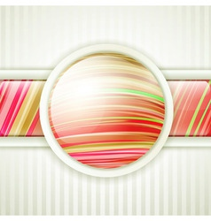 Round button frame vector