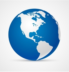Globe of the world icon vector