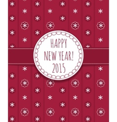 Holiday card happy new year 2015 vector