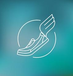 Running logo in outline style vector