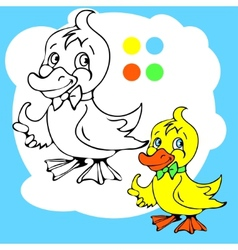 Coloring book or page cartoon of vector