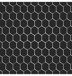 Monochromatic honeycomb seamless pattern vector