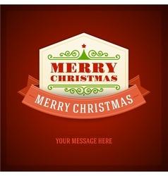 Merry christmas card ornament decoration vector