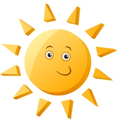 Funny sun cartoon vector