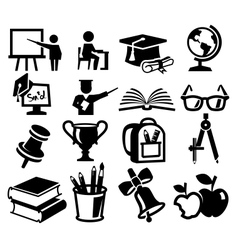 Icons set education vector