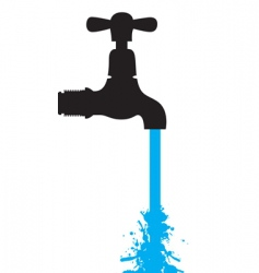Tap water vector