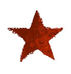 Red star symbol grunge vector