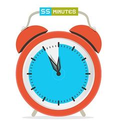 55 - fifty five minutes stop watch - alarm clock vector