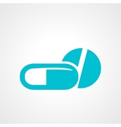 Pill and capsule icon vector