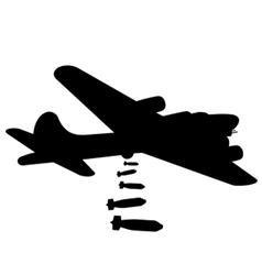 Bomber plane silhouette vector