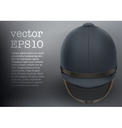 Jockey helmet for horseriding athlete vector