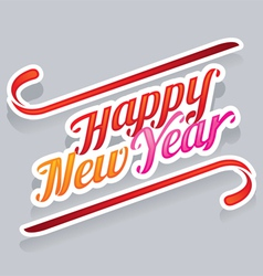 Happy new year text vector